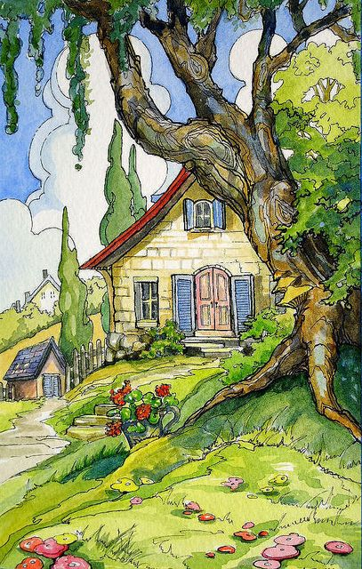 Come stay a while cottage alida akers storybook for Piani di casa cottage storybook