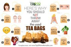 how to use used tea bags