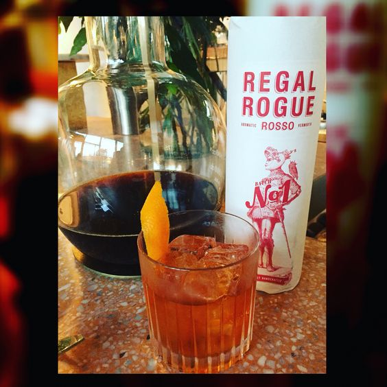 Regal Rogue's Negronee with a hint of Allpress coffee. Divine!