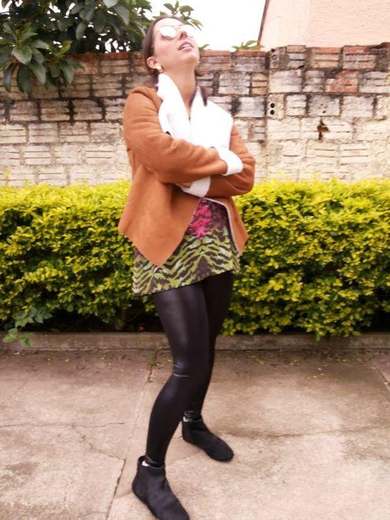 Blog Femina - Modéstia e Elegância: Casaco de camurça da SheIn e legging de couro da Live!