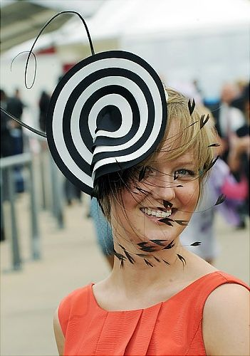 2012 Kentucky Derby Hat  -- The feather things would drive me up the wall!