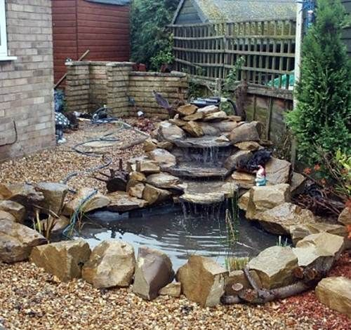 Waterfall Landscape Design Ideas garden and patio large backyard landscape design with low stone waterfall ponds rocks Pond Landscape Design Ideas Garden Pond Minimalist Style In Your Home