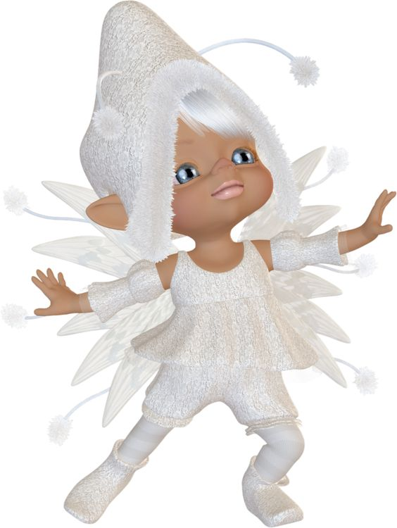Fairy Poser Tubes | free snow fairy graphic all in white.: