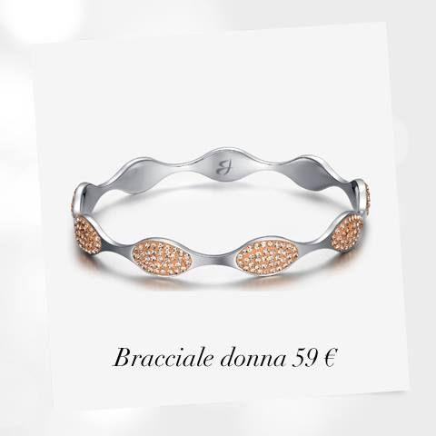 Eleganza contemporanea.  #bracciale #componibile in #acciaio #resina #cristalli #color #pesca 59€ #donna #woman #collezione #fashion #jewels #bracciale #Luca Barra