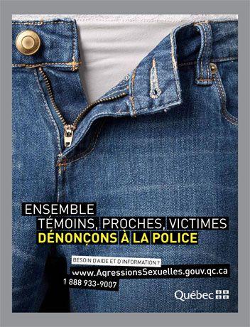 violence (agression sexuelle, abus, dénonciation, police, gouvernement, Québec, 2011) agence: Cossette