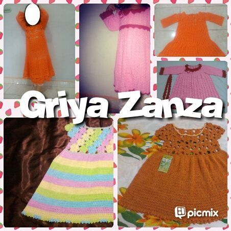 Kid Dress Handmade-crochet ~Aneka Gaun Rajutan Anak~  <3 Made by order  <3 Benang rayon viscose grade A yang lembut dan adem <3 Bisa request model dan size