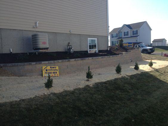 Block Retaining Wall Hardscape & Landscape York, PA Ryan's Landscaping