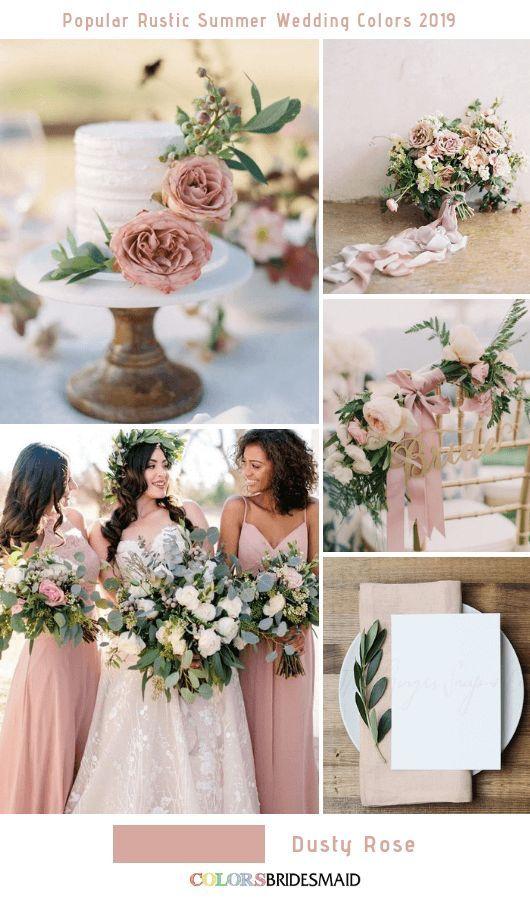 8 Popular Rustic Summer Wedding Color Ideas For 2019 Rustic
