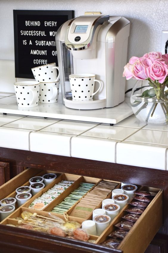 12 Creative Coffee Bar Ideas For The Kitchen Counter - Home Coffee Bar Ideas - Decorating Ideas ...