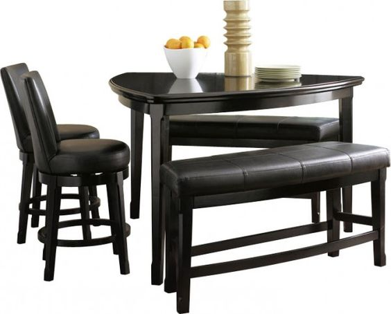 Pinterest the world s catalog of ideas - Triangle counter height dining set ...