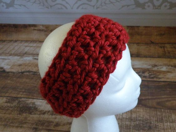 SALE Ready To Ship Cranberry Warmer Headband by SouthernStitchesCo