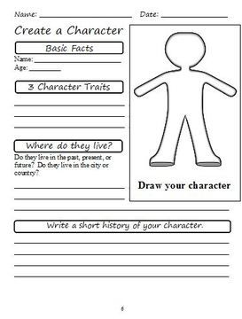 Writing a character sketch?