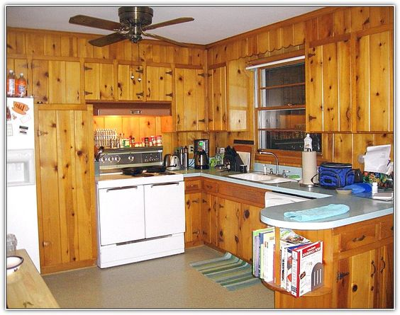 Vintage Knotty Pine Kitchen Cabinets Google Search