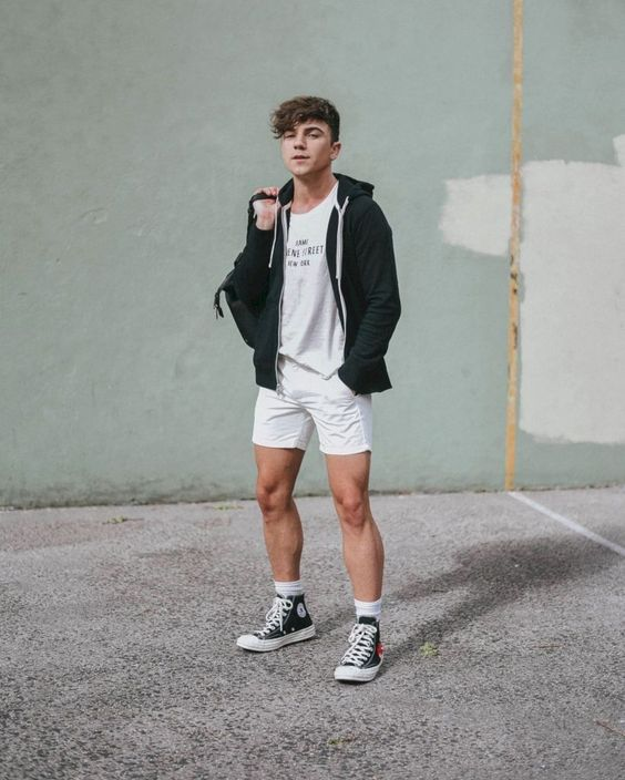 35 Cool and Trendy Spring Outfit for Men with Short Pant #Mensoutfits