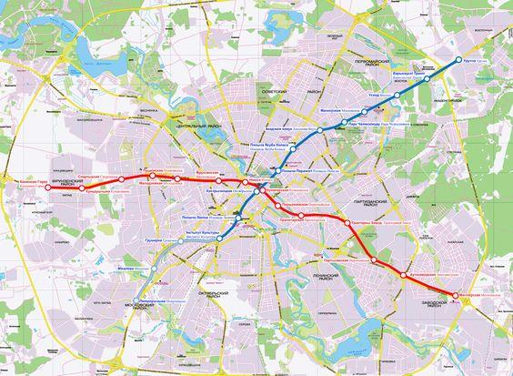 Minsk metro haritası
