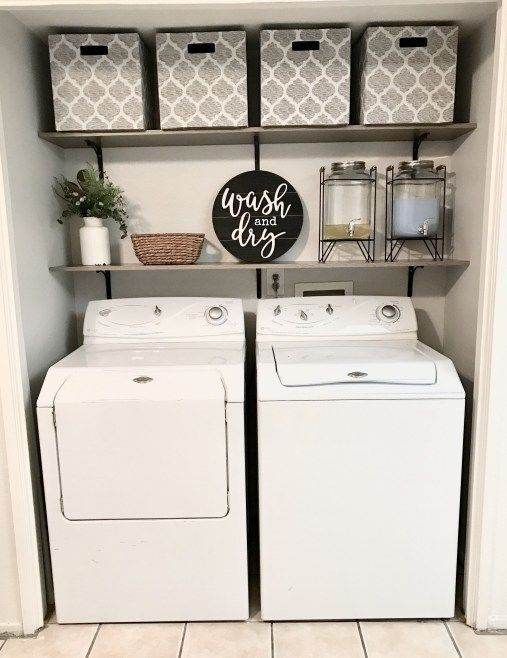 Best Laundry Room Storage And Organization Hacks For Small Space Laundryroo Diy Small Basement Laundy Room Laundry Room Inspiration Laundry Closet Makeover