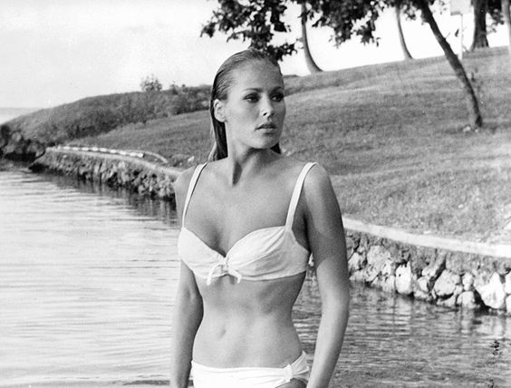 """""""I don't use my body to seduce. No, I just stand there."""" —#UrsulaAndress #soviolet  