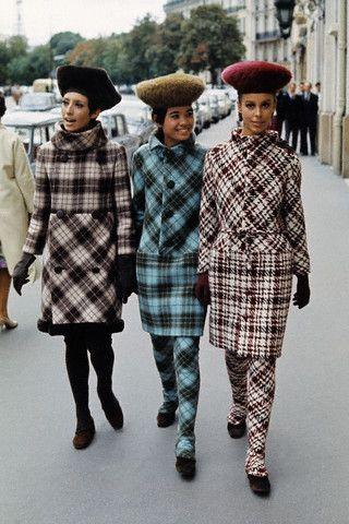 1970s Pierre Cardin plaid suits.