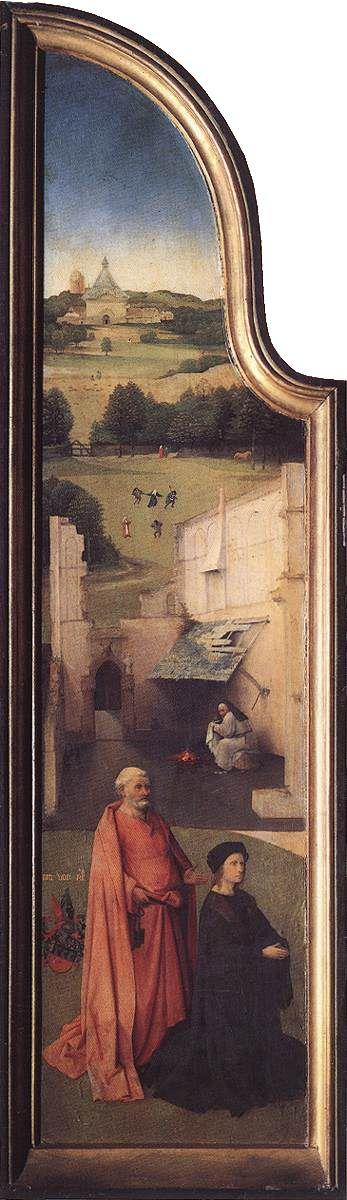 HIERONYMUS BOSCH (1450 - 1516) | The Epiphany - The Adoration of the Magi (left panel). Prado Museum.