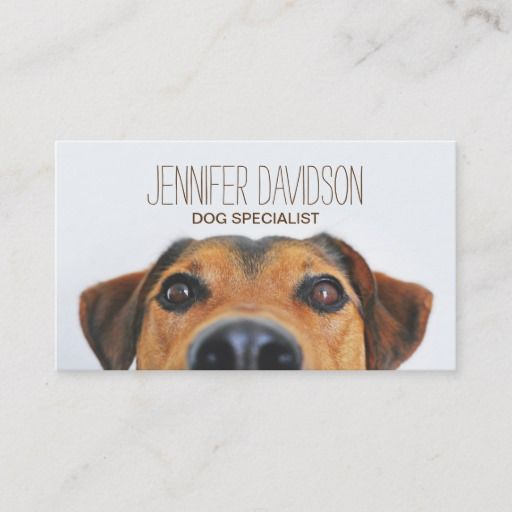 Personalized Dog Behaviorist Business Card In 2020 Cute Dog