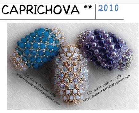 free bead tutorial Here is the link: http://aquacreativa.blogspot.com/2010/09/esquema-caprichova.html:
