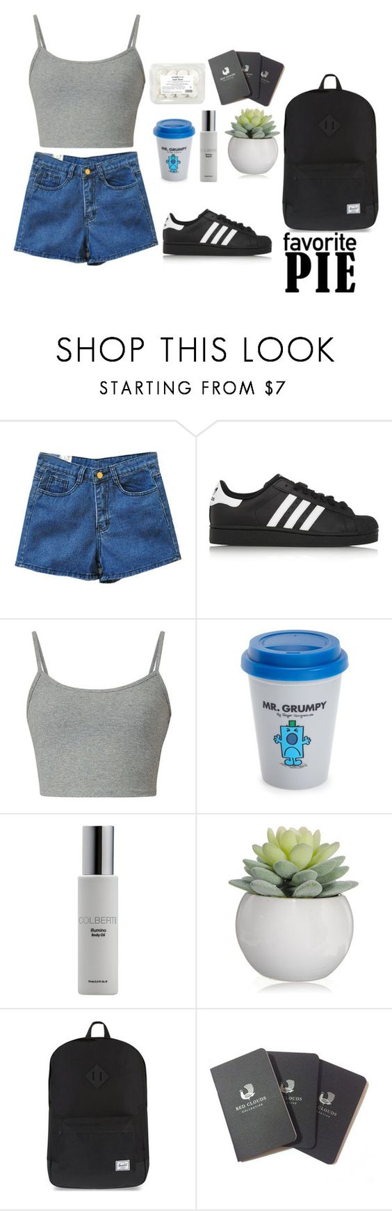 """beach"" by iuliana-1 ❤ liked on Polyvore featuring Retrò, adidas Originals, Wild & Wolf, Colbert MD, Herschel Supply Co., Red Clouds Collective and job"