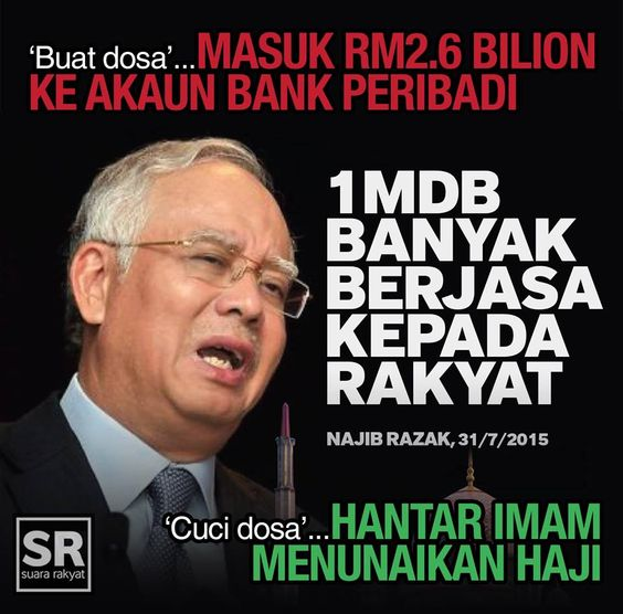 Najib Razak disaran supaya berhati-agar kerana Dunia sedang memerhatikan perlakuan beliau