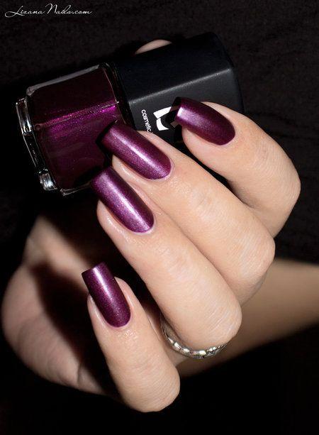LMcosmetic - Veloura - #lizannails #nailswatch #fallnails #fallpolish #burgundynails  - bellashoot.com