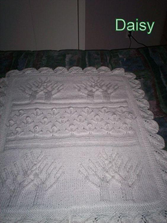 Modele de couverture tricot pour bebe gratuit projets essayer pinterest bebe tricot and - Modele plaid tricot gratuit ...