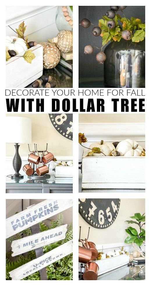 How To Decorate Your Home For Fall With Dollar Tree Dollar Tree