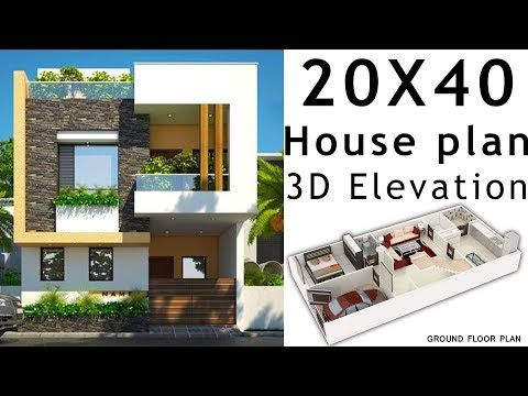 20x40 House Plan With 3d Elevation By Nikshail Youtube 20x40 House Plans Duplex House Plans House Plans