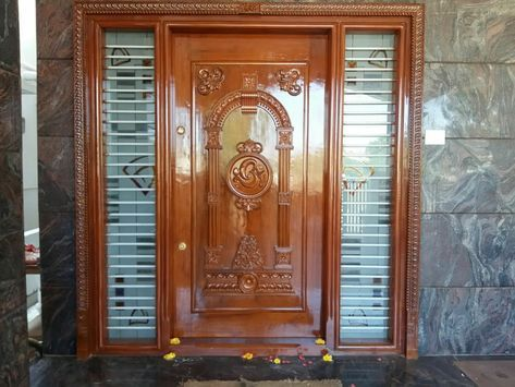 Pin By Agalya Periyasamy On House With Images Wooden Main Door Design Front Door Design Wood Wooden Door Design
