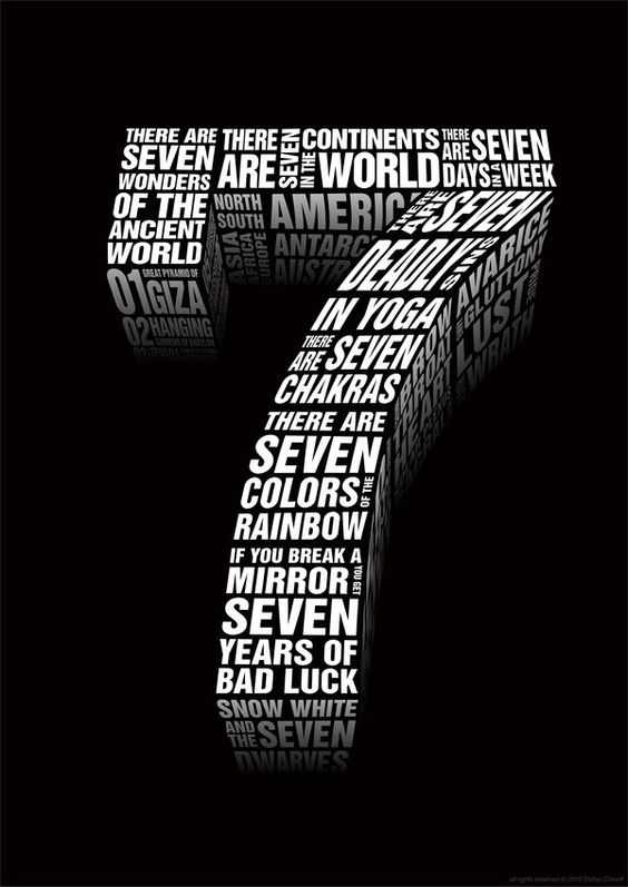 Number 7 is the mystical number of numerology, one that is linked ...
