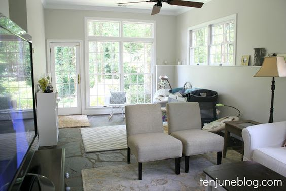 Behr 39 s mineral in eggshell it 39 s the perfect grey beige - Satin or eggshell for living room ...