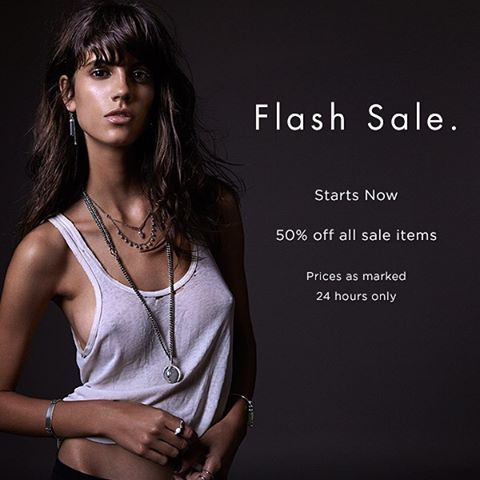 Flash Sale starts now ⚡️ Enjoy 50% off all sale items, including a collection of exclusive archival styles  24 hours only. Prices as marked. www.themaniamania.com/shop/sale