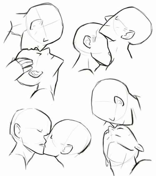 Anime Characters Kissing Drawing : Kiss tutorial and anime image references pinterest