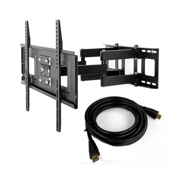 Fleximounts TV Wall Mount for 32 to 65-inch TV with Articulating Mounting Bracket, Full-motion TV Arm and 6-foot Hdmi Cable