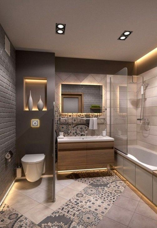 52 Simple But Functional Small Bathroom Design Ideas Bathrooms Remodel Bathroom Design Small Diy Bathroom Remodel