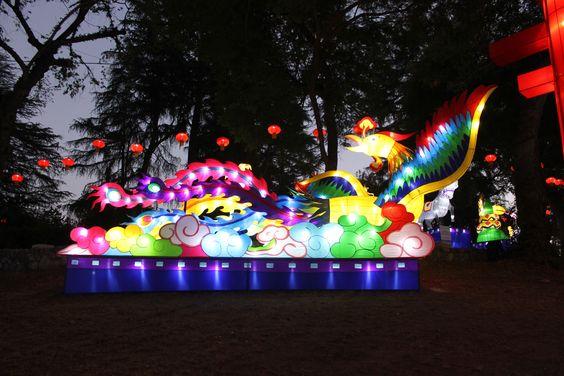 LA County Fair, Pomona, California, USA at the Lumanasia display.