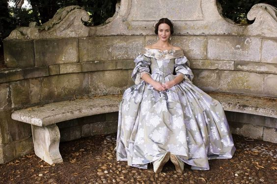 Young Victoria silver and blue gown