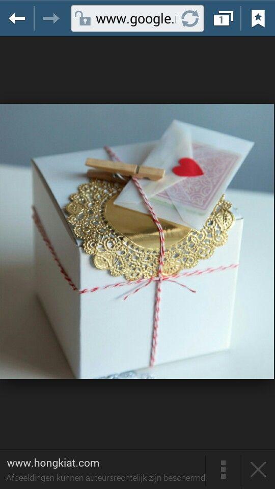 Inpakken met klein envelopje