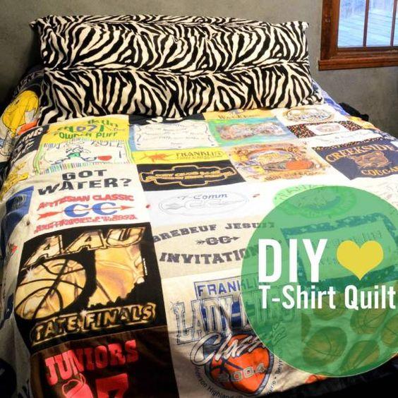 couette patchwork tshirts Une couverture patchwork originale