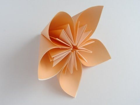 Origami Kusudama Flower, paper flower instructions, do with newspaper would be cute for rustic poms