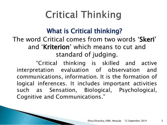 critical thinking definition - Buscar con Google Unit 6 Saving - psychological evaluation