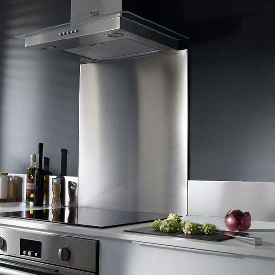 Fond de hotte inox anti traces 60x70cm muebles de cocina Pinterest