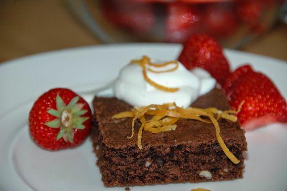 ganske enkelt: Brownies med appelsinsmak