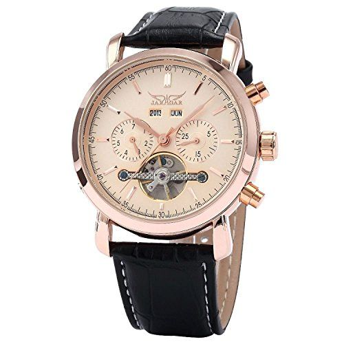 OrrOrr Elegante Klassisch mechanische Automatikuhr Herrenuhr Armbanduhr Uhr Rosegold