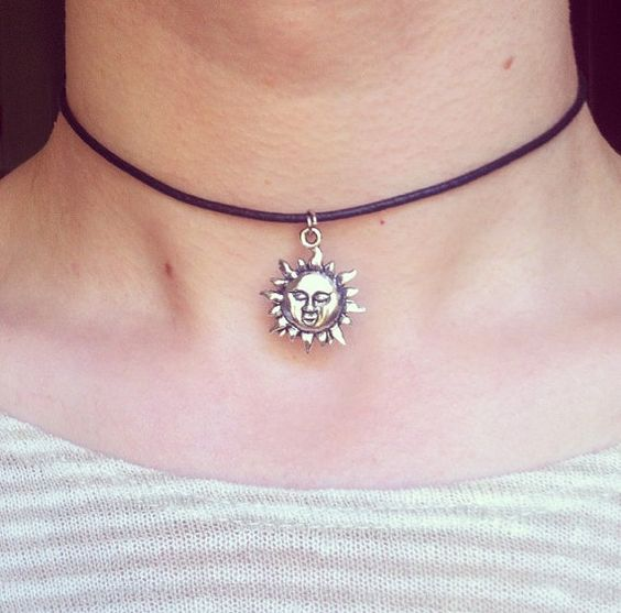 The Leon Sun Choker - 90s Grunge Large Silver Necklace