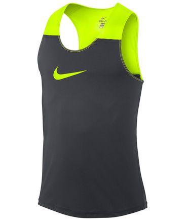 Nike - Herren Lauf-Singlet Dri Fit Racing Tank grau/gelb #sports #nike #neon