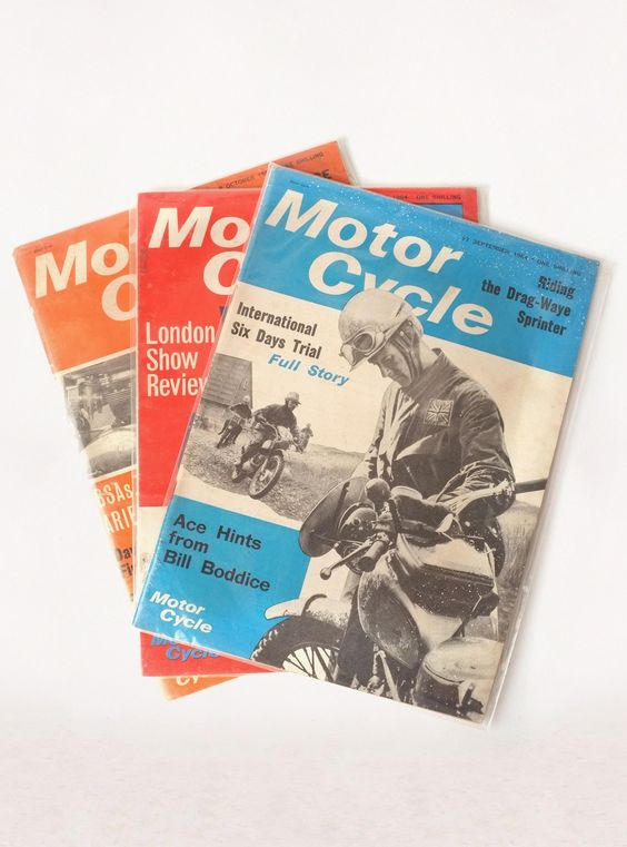 "Vintage ""motor cycle"" magazine:"